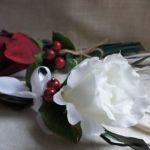 Декоративное украшение для стола «Белая роза»