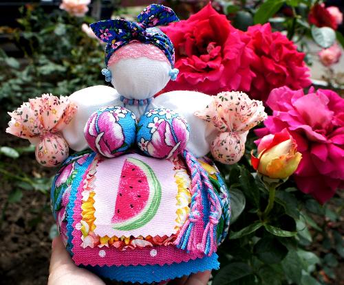 Народная кукла Кубышка травница