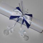 приглашение- свиток со стеклянными шариками
