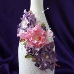 Оформление бутылки «Фиолетовая Гортензия»